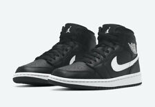 Brand New In Box Nike Air Jordan 1 Mid Black / White Women's Shoes BQ6472-011