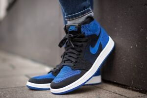 f2db2a9a5748 Nike Air Jordan 1 Retro High Flyknit size 13. Royal Blue Black White ...
