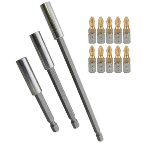 13pcs//Set Socket Adapters Drill Bits Kit Alloy Steel Screwdriver Shank Extension