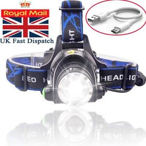 Rechargeable-Tactical-30000LM-T6-LED-Headlamp-18650-Headlight-Head-Torch-Lamp-UK