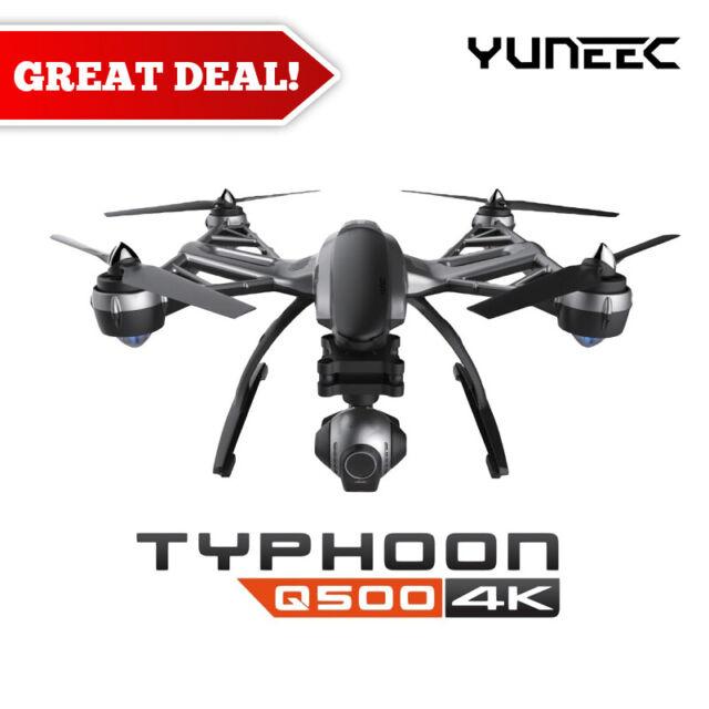 Yuneec Q500 YUNQ4KUS-R90 4K Typhoon Quadcopter Drone RTF w/ CGO3 Camera (Black)