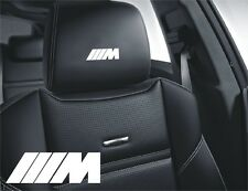 5x /// M BMW Aufkleber für Ledersitze Logo Simbol M3 325I X5 745 M5 325i E46...
