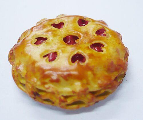 Filled Cherry Pie On Tin Pans Dollhouse Miniatures Food Bakery