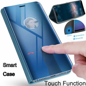 san francisco 19630 ce767 Luxury Mirror Smart Clear View Flip Stand Case Cover For Huawei ...