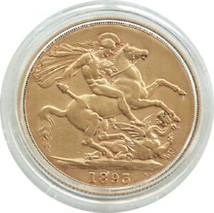 1893 Queen Victoria £2 Two Pound Double Sovereign Gold Coin