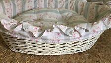 Rare Rachel Ashwell Simply Shabby Chic Wicker Pet Bed, EUC