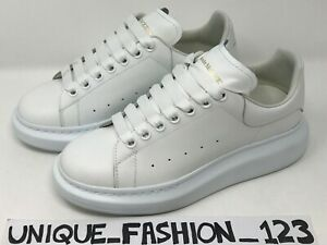 Details about ALEXANDER MCQUEEN TRAINERS SNEAKERS US 9 UK 6 39 TRIPLE WHITE  WOMEN'S PLATFORMS