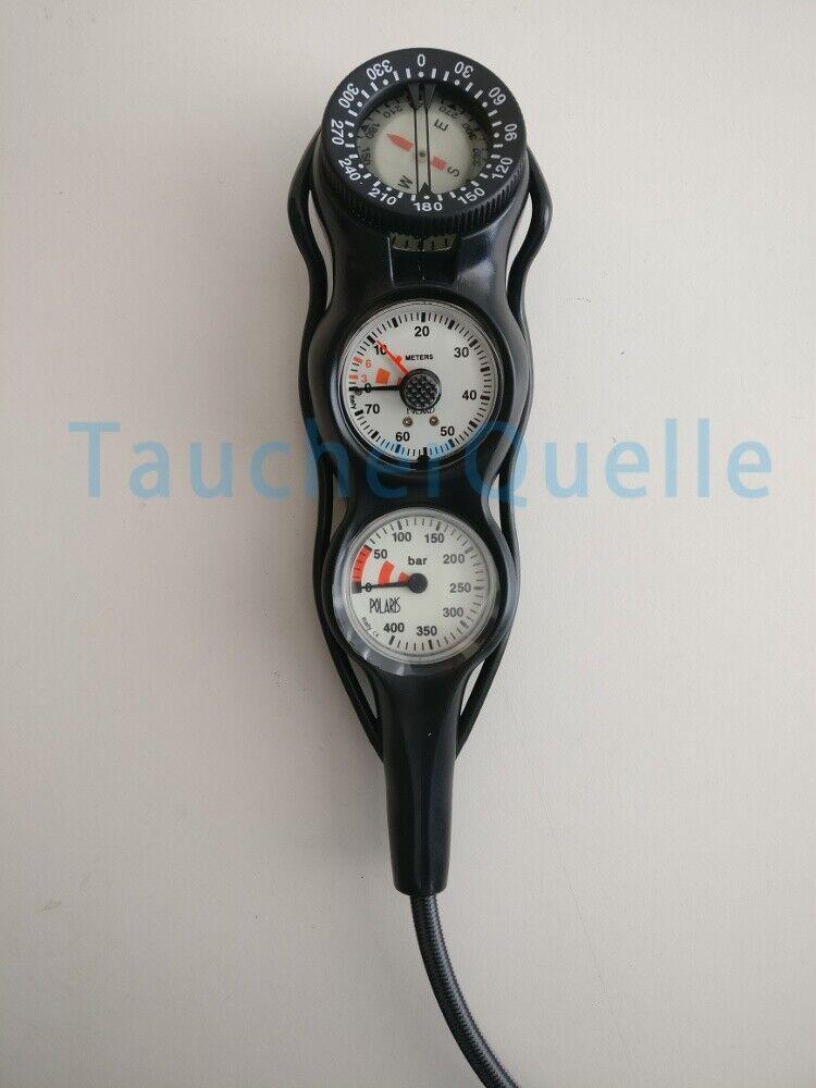 POLARIS Slim Line Dreierkonsole - Finimeter, Tiefenmesser & Kompass