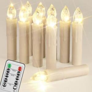 Weihnachtsbeleuchtung Mit Timer.10er Led Kerzen Advent Mit Fernbedienung Timer Batterien