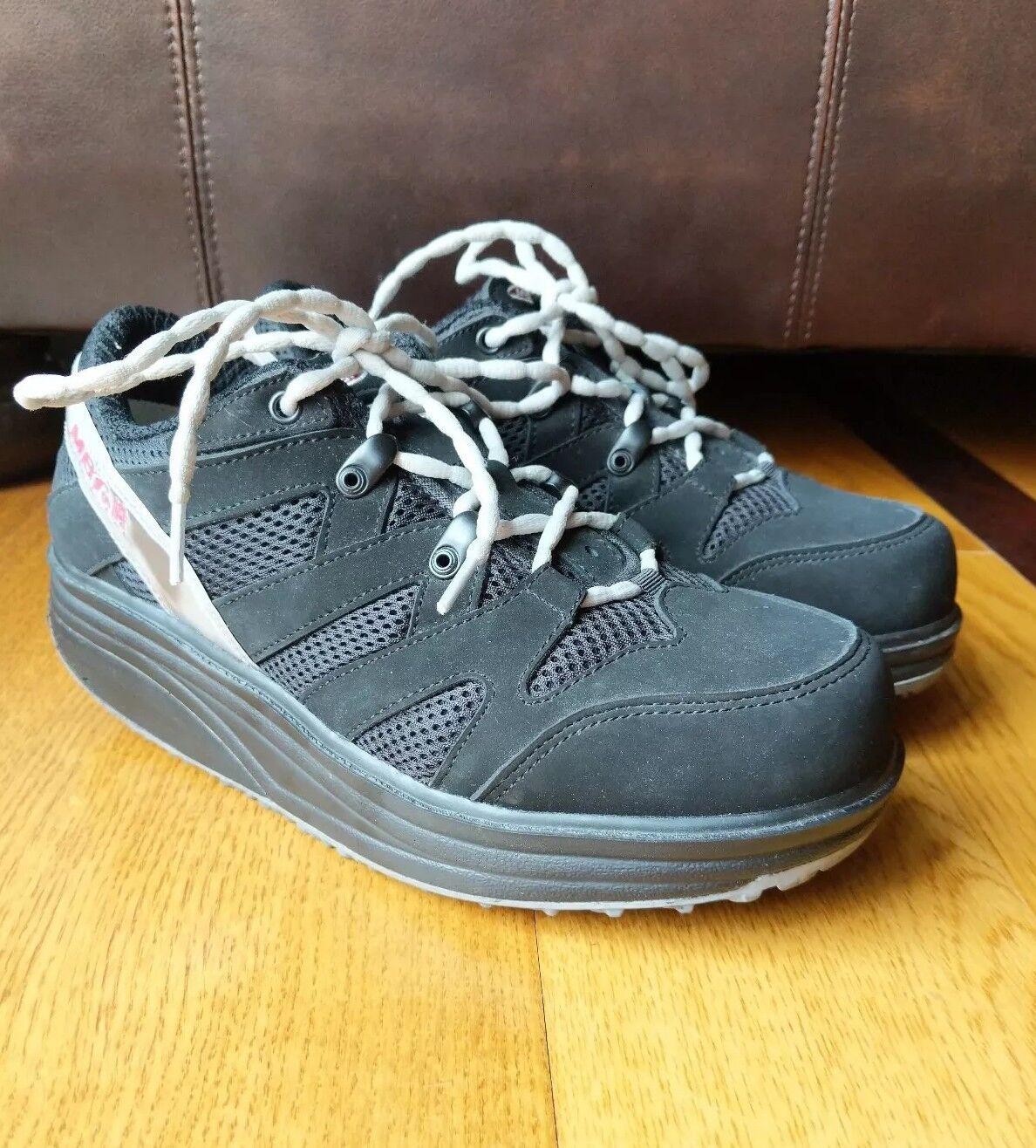 MBT Sport M Walk BLACK SUEDE Walking Toning shoes Sneaker Unisex M 6.5 W 8.5