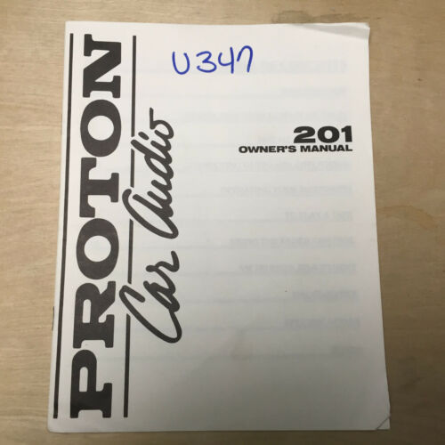Original Proton Owner Manuals for Car Audio Systems