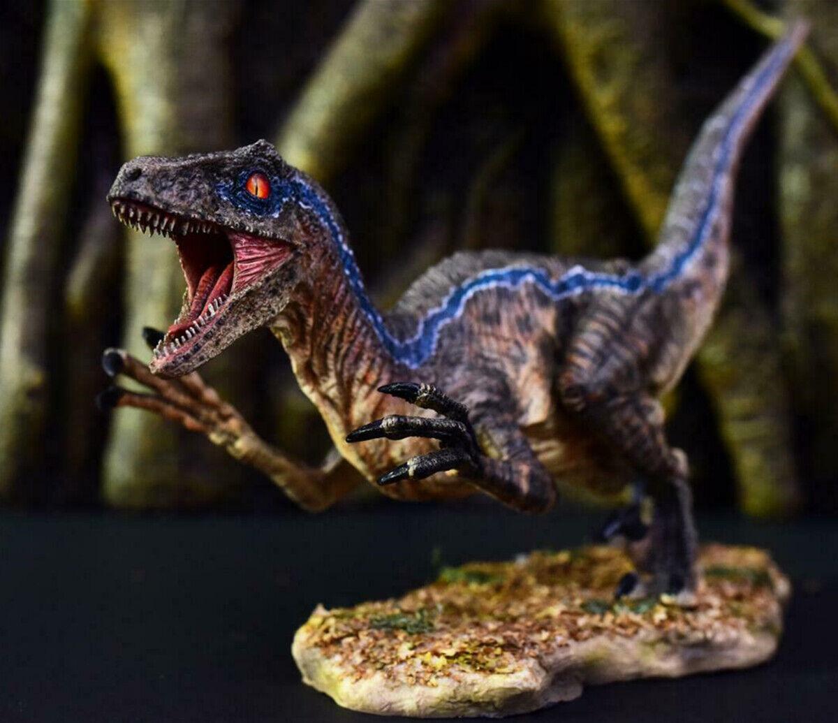 blu Velocraptor 1 10 Scene Pre Raptor Dinosaur modello Collector Decor Gift GK