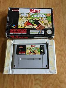 Asterix | SNES PAL UKV | auténtico | Super Nintendo no Manual-Libre P&P