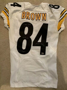 Details about 2016 Antonio Brown Pittsburgh Steelers Game Worn And Siged Jersey 12/18 Vs Cin