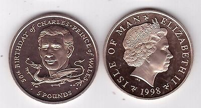 ISLE OF MAN RARE 1 POUND UNC COIN 1984 YEAR KM#128 CASTLETOWN