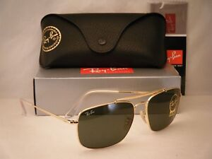 cbbeaa571c3f Ray Ban 3560 The Colonel Gold w Green Crystal (G-15) Lens (RB3560 ...