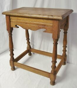 Amazing Details About Antique Oak Joint Stool 21 Tall Small Victorian Style Bench Seat Side Table Ocoug Best Dining Table And Chair Ideas Images Ocougorg