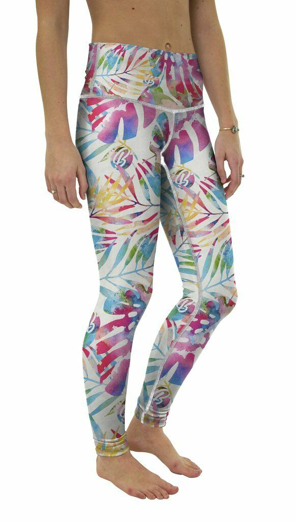 NEW Be  d WOMENS YOGA PANTS TROPICAL TIE DYE XSMALL-XLARGE MADE IN THE USA  cheaper prices