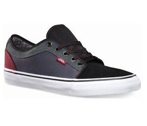 c8d072f837 VANS Chukka Low Black Dark Grey Burgundy UltraCush Men s Skate Shoes ...