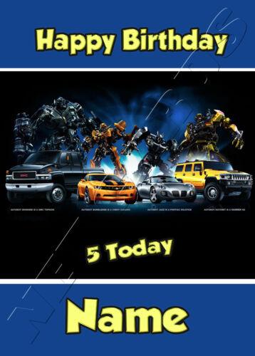 Transformers Prime-Personnalisé Anniversaire Carte son petit-fils neveu frère