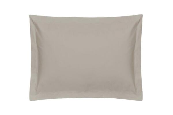 400 Tc Single Ply 100% Egyptian Cotton Pair Housewife Pillow Cases Pewter Grey