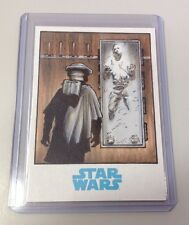 Star Wars 2015 Han Solo Carbonite Sketch Card By Mike Babinski