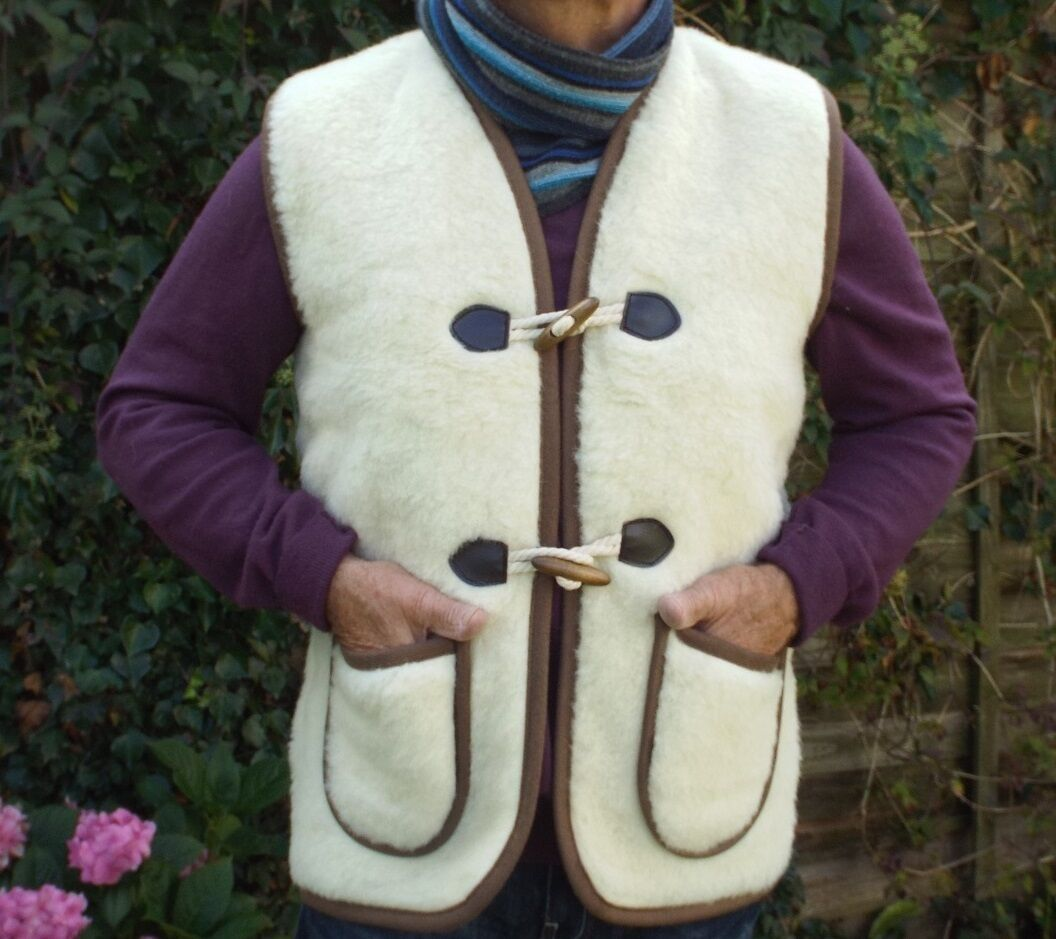 Unisex  Men & Women's Unisex 100% Natural Pure Merino Wool  Gilet Body Warmer