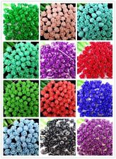50Pcs Can Multiple Choices Tridacna Carved Flower Pendant Bead 10*2mm B9815