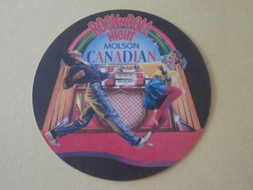Beer Coaster Rock N Roll Night Molson Canadian Lot of 2