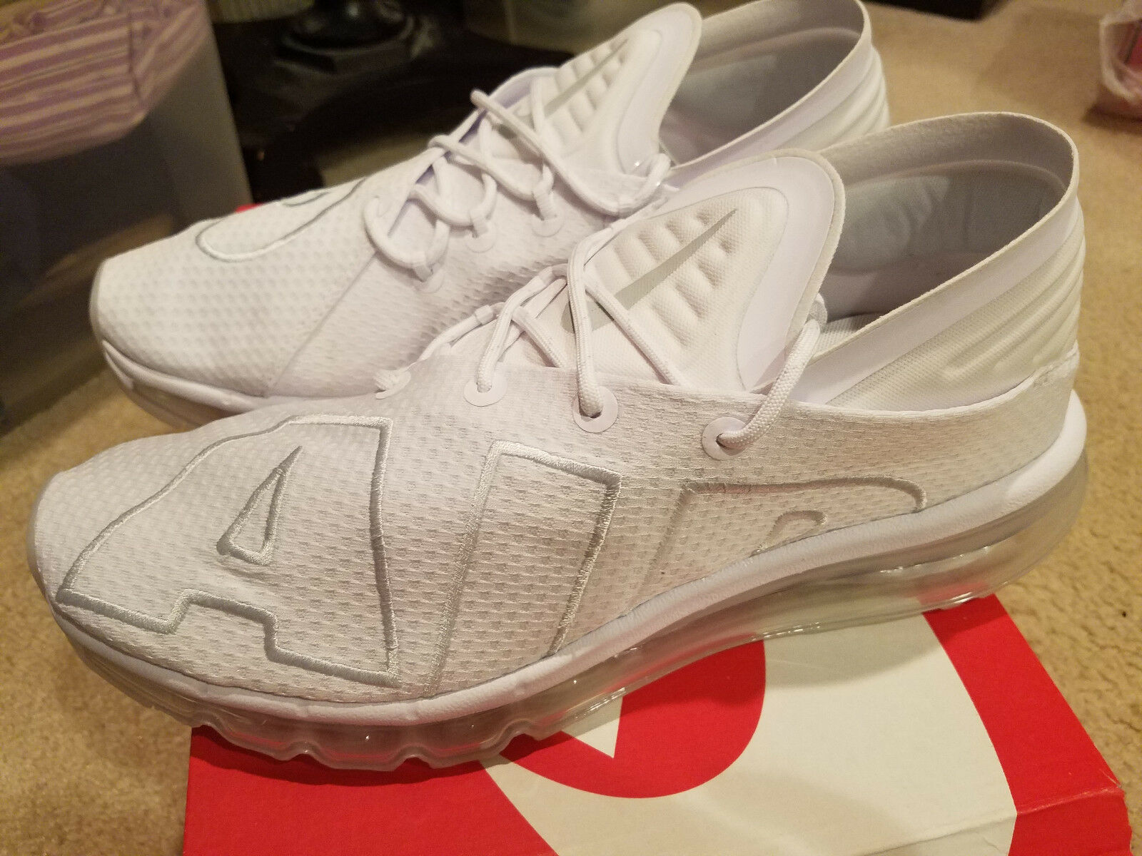 NEW Nike Air Max Flair All White Men's Size 10.5 Model