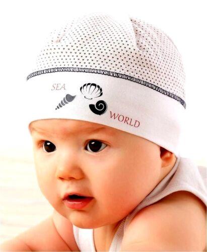Baby Jungen Sommer Mütze  Kindermütze Baumwollmütze Marika Neu Weiß