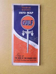 MAP-GULF-GAS-SERVICE-ADVERTISING-ONTARIO-QUEBEC-GASOLINE-MOTOR-OIL-VINTAGE