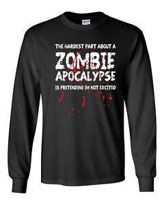 Hardest part about Zombie Apocalypse Mens T Shirt The Walking Dead Daryl Dixon