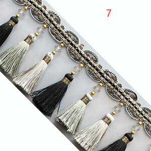 Black Pandahall 27 Yards Polyester Fringe Lace Trim 1 Wide Tassel Fringe Trim Ribbon for Curtain Blanket Clothing Edging Sewing Trimming