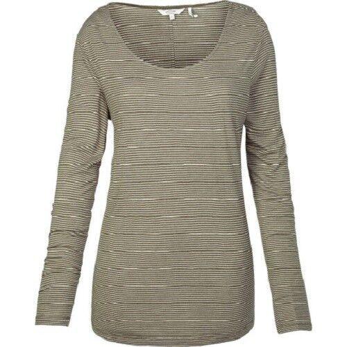 Women/'s LS Stripe Scoop Tee BNWT Fat Face Green 100/% Viscose