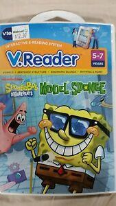 Vtech-V-Reader-learning-game-SpongeBob-Squarepants-MODEL-SPONGE-NEW