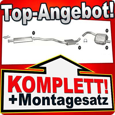 Montagesatz Endschalldämpfer ALFA ROMEO 147 1.6 2.0 Twin Spark 16V 2000-2008