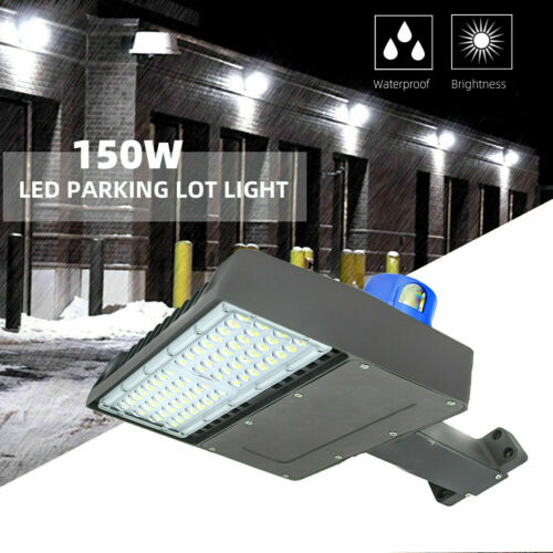 450W Equivalent LED Shoe Box Light Pole 150W Arm Mount, ,Outdoor Area Lighting
