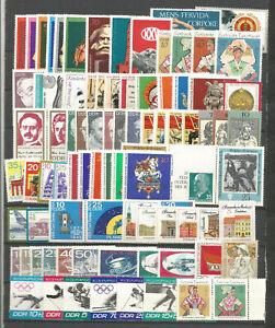 DDR-1971-postfrisch-kompletter-Jahrgang-mit-Bloecke-und-allen-Einzelmarken