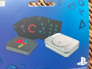 Ambitieux Retro Playstation Playing Cards In Ps One Console Gift Tin