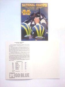 Bernie kosar greeting cards michigan national champs 1997 football image is loading bernie kosar greeting cards michigan national champs 1997 m4hsunfo