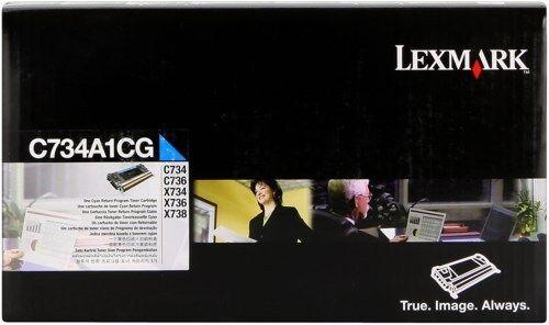 1 of 1 - original Lexmark Toner C734A1CG CYAN C734 C736 X734 X736 X738 new D