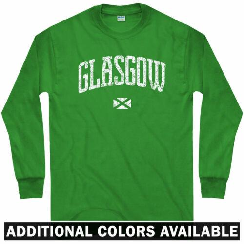 Glasgow Long Sleeve T-shirt Scotland UK Glesga Glaschu GB Men // Youth LS