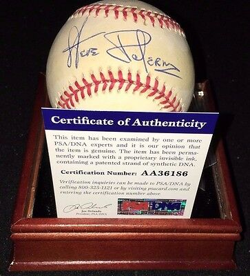 W/case Clients First Discreet Al Umpire Steve Palermo deceased Signed Oal Budig Baseball Psa Coa