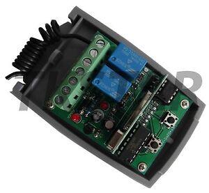 433-92Mhz-Rolling-Code-12V-24V-Garagentor-Funk-Empfaenger-kompatibel-zu-HomeLink
