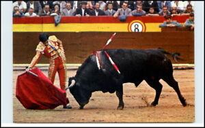 Stier-Kampf-Bullfight-Spanien-Corrida-de-Toros-Torero-Postkarte