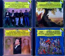 MOZART, BRAHMS, SCHUBERT, ORFF - (4) CD LOT - DEUTSCHE. GRAMMOPHON - DIGITAL