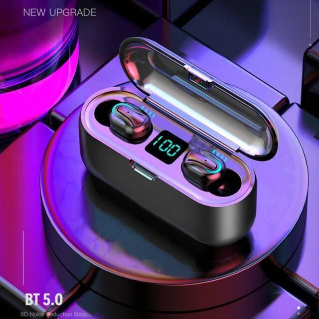 Cuffie TWS Bluetooth Auricolari In-Ear invisibili con scatola di ricarica MIC