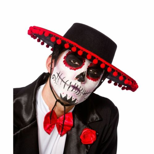 Day Of The Dead Mariachi Band Hat Fancy Dress Spanish Halloween Adult