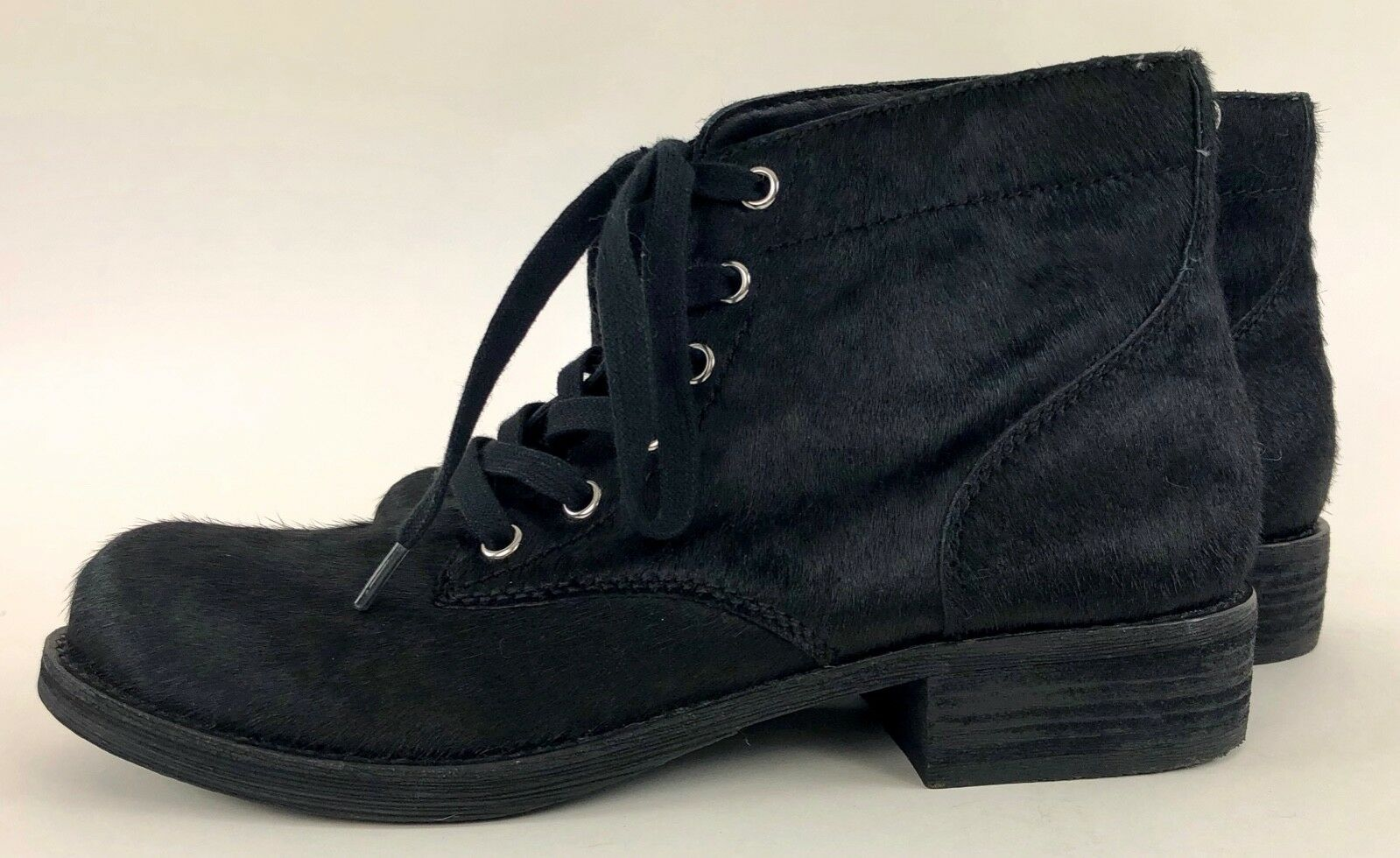 Sam Edelman Bleecker Lace-Up shoes. Black Calf Hair Ankle Boots Sz 8.5m. New WOB